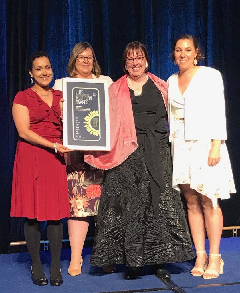 Canberra Community Law accepting award