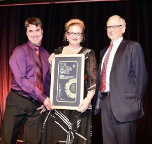 Questacon accepting award